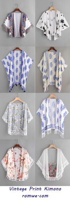 Shop online for the latest collection of PIN US PrintKimono 20170619 A Find the best styles and deals at ROMWE right now! Girls Fashion Clothes, Teen Fashion Outfits, Modest Fashion, Fashion Dresses, Clothes For Women, Kurta Designs, Blouse Designs, Kimono Fashion, Hijab Fashion