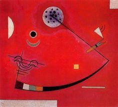 '`tension` dans le coin', huile de Wassily Kandinsky (1866-1944, Russia)