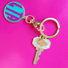 Add a little color to your keys! Like this monogrammed keychain..