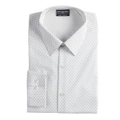 Worth a thousand words. This men's Van Heusen dress shirt speaks volumes for your style with its contemporary look and fit. Stretch fabric blend delivers all-day comfort. Homecoming Outfits For Guys, Collar Dress, Shirt Dress, 4 Way Stretch Fabric, Fit 4, Point Collar, Shirt Blouses, Your Style, Van