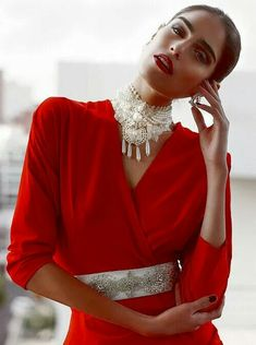 Indi Arab Fashion | Regal | Bold | Red | Womenswear | Red Carpet