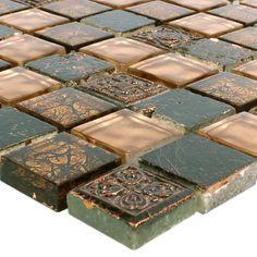 Quarzit Naturstein Glas Mosaik Fliesen Harmonia Gold Beige f/ür Wandverkleidung K/üchenr/ückwand Badezimmer Fliesenspiegel Duschwand Bad