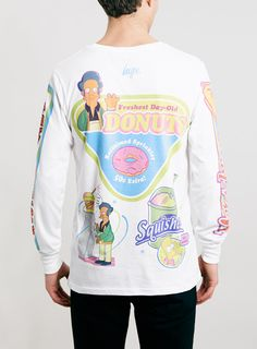 Hype X The Simpsons Kwik E Mart Long Sleeve T-Shirt* - Men's T-Shirts & Vests - Clothing - TOPMAN