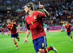 Fernando Torres got the start, and repaid Spain for the confidence vote with two goals in the win over Ireland. More - Euro 2012 - Day 7 Summary Euro 2012, Jealous, Bro, Spain, Goals, Running, Sports, Hairstyles, Fernando Torres
