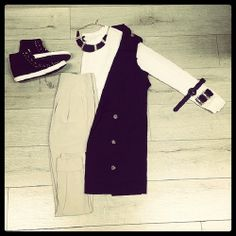 Comfy & chic casual work wear Top VT10859 Beige Bottom VP70347 Beige Vest VJ90200 Black  #fashion #outfit #ootd #photooftheday #instafashion #instagood #instadaily #trendy #style #workoutfit #work #shoes #sneakers #kicks #kicksonfire #chicksandkicks #necklace #bangles #bracelets #jewelry #fashion2014 #pretty #cute #cool #lace #shorts #sophisticated #edgy