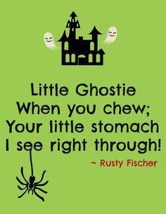 Chew ewwwww... A Halloween poem