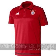 5d54b1770b039 Venta de Camisetas polo rojo bayern munich 2015-16. jose zz · camisetas de  futbol