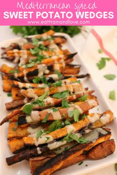 Try out these amazing crispy Mediterranean Spiced Sweet potato wedges. These bake sweet potato wedges are packed with nutrients and loaded with flavor for an easy, delicious and healthy side dish | clean eating sides | side dishes | vegetarian dishes | vegan recipes | sweet potato fries