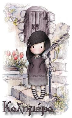 A beatiful draw of gorjuss Cute Images, Pretty Pictures, Decoupage, Ideias Diy, Whimsical Art, Cute Illustration, Cute Cartoon, Cute Drawings, Paper Dolls