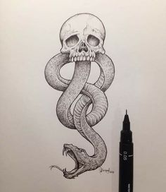 Find images and videos about art, harry potter and voldemort on We Heart It - the app to get lost in what you love. Harry Potter Dark Mark, Harry Potter Sketch, Harry Potter Death, Harry Potter Drawings, Harry Potter Tumblr, Harry Potter Tattoos, Harry Potter Art, Art Drawings Sketches, Cool Drawings