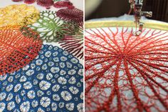 Artist Uses Home Sewing Machine To Capture Nature's Most Delicate Forms With Embroidery