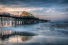 The Apache Pier in Myrtle Beach, SC before sunrise.
