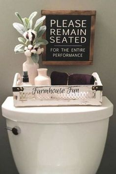 remain seated or / Farmhouse Sign / Rustic / Home Decor / Hand painted / Wood sign / Farmhouse Style / Bathroom Please remain seated, Bathroom Sign. For the kid's restroom.Please remain seated, Bathroom Sign. For the kid's restroom. Casa Hipster, Rustic Decor, Farmhouse Decor, Farmhouse Style, Farmhouse Ideas, Rustic Design, Country Decor, Country Living, Rustic Cafe