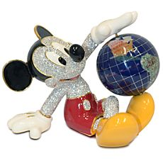 Mickey Mouse Figurine with Globe by Arribas Brothers $1500