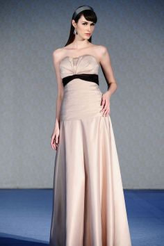 Amazing A-line empire waist satin dress for bridesmaid