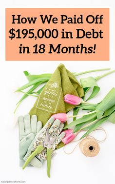 How We Paid Off $195,000 in Debt in 18 Months! #debtpayoff #howtopayoffdebt Get Out Of Debt, Debt Payoff, Finance Tips, Money Management, Money Saving Tips, Extra Money, 18 Months, Personal Finance, Frugal