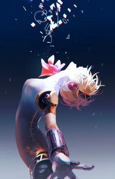 Inspirationally Sane By Art And Music : Photo Persona 3 Aigis, Persona 4, Manga Anime, Anime Art, Shin Megami Tensei Persona, My Romance, Atlus Games, Girls Anime, Video Game Art