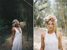 Robes de mariée bohème de dentelle élégante