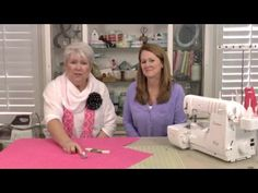 Learn from Kathy Garrett and Margaret Tully how to serge crib sheets. Video tutorial from Applique Corner. For more information, visit us at www.appliquecorn...