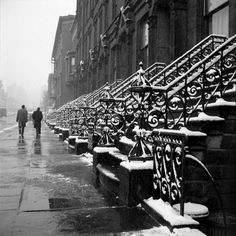 Vivian Maier. 1955, one of my favorites, the repeating lovely pattern of snow…