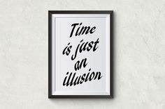#poster #original #modern #illustrations #quote  #time #minimal #decoration #home