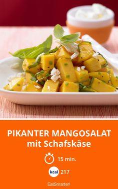 Pikanter Mangosalat - mit Schafskäse - smarter - Kalorien: 217 kcal - Zeit: 15 Min. | eatsmarter.de #abnehmen #eiweiß #protein #gesund #fitness