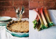 Rhubarb Custard Crumb Pie by yossy arefi, via Flickr