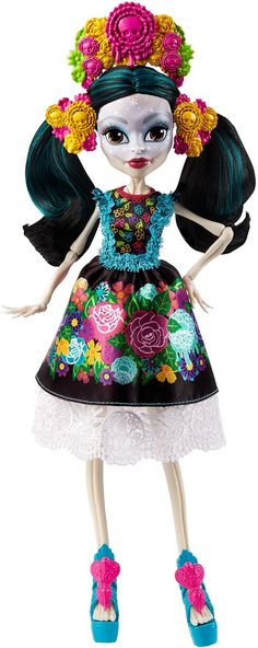 Shop Monster High Skelita Calaveras Collector at Artsy Sister. Monster High Skelita, Soirée Monster High, Love Monster, Monster Dolls, Skelita Calavera, Triste Disney, Draculaura, Personajes Monster High, Mexican Outfit