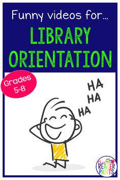 Need ideas for your back to school library orientation? This post includes videos to get your students laughing on their first library visit of the year! School Library Lessons, School Library Displays, Library Lesson Plans, Middle School Libraries, Elementary School Library, Library Skills, Elementary Schools, Class Library, Future Library