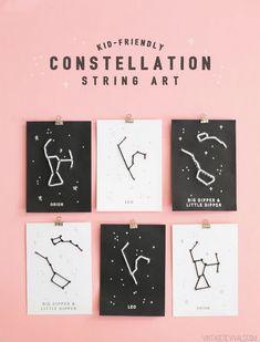 26 Kid Friendly Constellation String Art