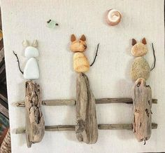 102 diy project and decoration ideas to do with kids page 88 102 Bastel- und Dekorationsideen rund ums Kind Seite 88 Source by . Stone Crafts, Rock Crafts, Arts And Crafts, Diy Crafts, Decor Crafts, Art Pierre, Deco Nature, Pebble Pictures, Driftwood Crafts