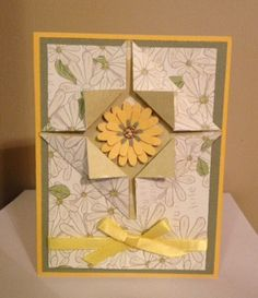 Yellow Flower Frame Card...picture only for inspiration.