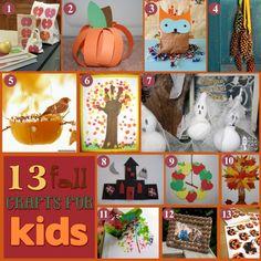 fallcraftpreview Friday Feature: Fall Kids Craft Ideas