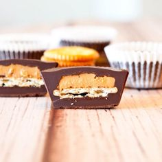 Ritz-Stuffed Peanut Butter Cups. NoBake, Easy, Vegan, Delicious.