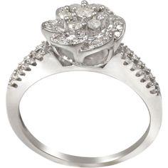 <li>White diamond ring</li> <li>Sterling silver jewelry</li> <li><a href='http://www.overstock.com/downloads/pdf/2010_RingSizing.pdf'><span class='links'>Click here for ring sizing guide</span></a></li>