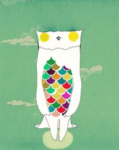 Colorful Owl.  Kat Heyes