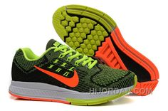 huge discount 3c991 fbe71 Usa Nike Air Zoom Structure18 Mens Running Shoes Black-orange-green 3kfrk