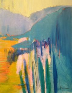 DOROTHY FAGAN Embrace the Mountain original, oil on canvas 30″ x 40″ x 1.5″, gallery wrapped