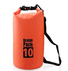 Ocean pack waterproof dry sack bag with one shoulder strap for hiking sailing boating fishing camping etc orange 10L >>> See this great product.Note:It is affiliate link to Amazon.