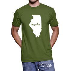 #Illinois Legalize Pot Men's T-Shirt #PotTeez
