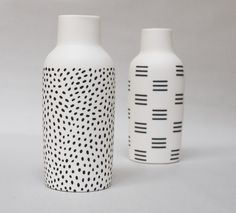 This shape vase is fab.. Pattern is cute too  Bottle Vases :: The Granite