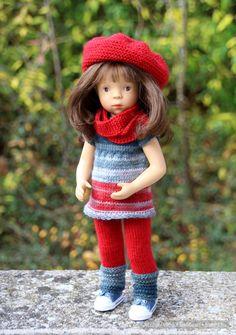 Пополнение в кукольном семействе. Новая Minouche от Sylvia Natterer & Petitcollin. Одежда своими руками. / Другие интересные игровые куклы для девочек / Бэйбики. Куклы фото. Одежда для кукол