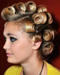 Curlers, Curled Hairstyles, Drop Earrings, Elegant, Fashion, Rollers In Hair, Classy, Moda, Fashion Styles
