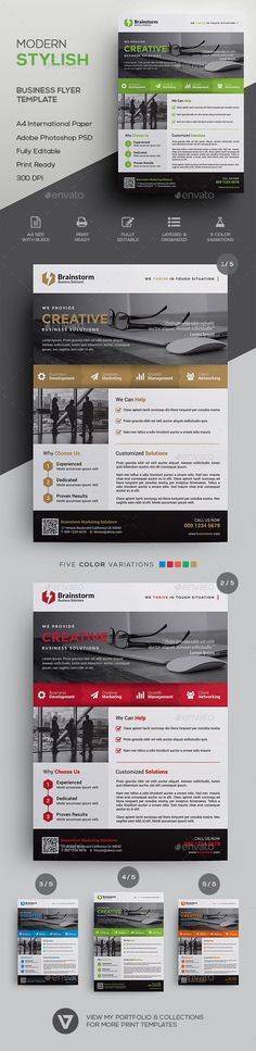 Corporate Flyer Template by verazo Stylish & Modern Business Flyer Template A highly versatile corporate business flyer suitable for all business industry. Create st