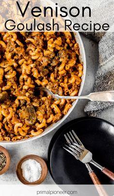 Ground Deer Recipes, Ground Venison Recipes, Recipes For Deer Meat, Easy Venison Recipes, Sausage Recipes, Pasta Recipes, Dinner Recipes, Cooking Recipes, Game Recipes