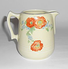 Hall Pottery Orange Poppy Creamer