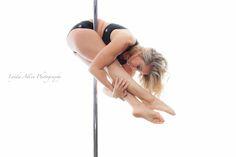 Pike tuck hold ~ Jess of AVA Fitness, New Westminster, BC, Canada. Photo taken November 2014. #poleographybylynda #polefit #polefitness #poledance #polelove #poleart #polelife #poleography #piketuckholdpoletrick