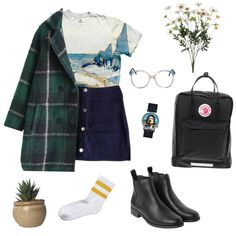 Untitled #124 by greerveronica on Polyvore featuring polyvore fashion style Claudie Pierlot Monki Fjällräven Salvador Dali