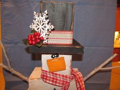 4x4 Snowman for the craft show.