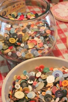 Collect buttons when you find them in your home. So when you loose a button on a pair of clothes you are prepared to fix them with hand sewing